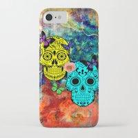 sugar skulls iPhone & iPod Cases featuring Sugar Skulls by haroulita