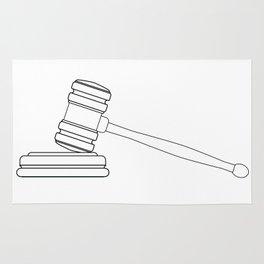 Judges Gravel Line Drawing Rug