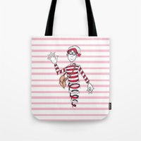 waldo Tote Bags featuring Waldo by Lady Catton