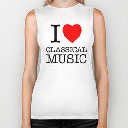 I Love Classical Music Biker Tank