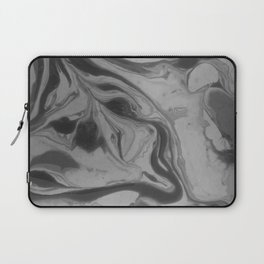 Black and grey marble Laptop Sleeve
