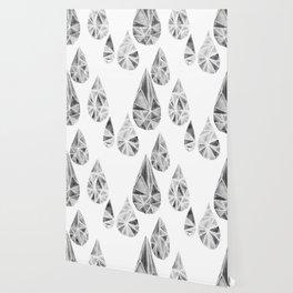 Crytal Raindrop in Gray Wallpaper