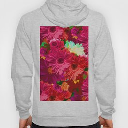 White Center Flowers Hoody
