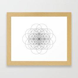 Twin Seed Seeding Framed Art Print