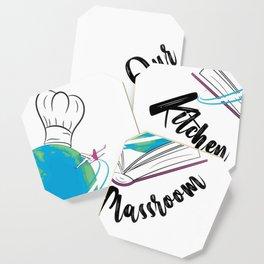 Our Kitchen Classroom Logo Coaster