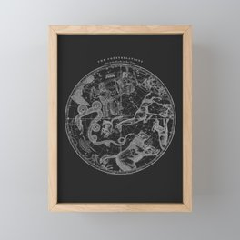 The Constellations - Dark Framed Mini Art Print