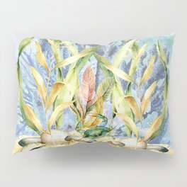 Watercolor Under Sea Collection: Shells and Sea Grass Pillow Sham