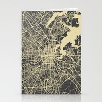 baltimore Stationery Cards featuring Baltimore map by Map Map Maps