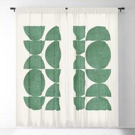 Green Retro Scandinavian - Mid Century Modern Blackout Curtain