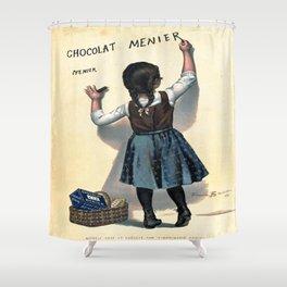 Vintage poster - Chocolat Menier Shower Curtain