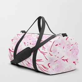 Pink and red blossom Duffle Bag
