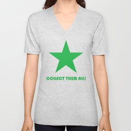 Green Star - Collect Them All! Unisex V-Neck