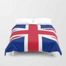 Union Jack Authentic color and scale 3:5 Version  Duvet Cover
