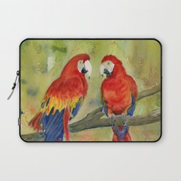 Scarlet Macaw Parrots Laptop Sleeve