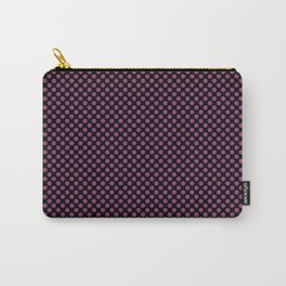 Black and Sugar Plum Polka Dots Carry-All Pouch