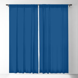 Dark Cerulean Blackout Curtain