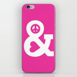 Peace and Love (pink edition) iPhone Skin
