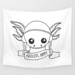Axolotl Army Line Work Wall Tapestry