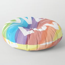 Love is Love Rainbow Floor Pillow