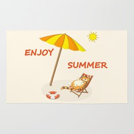 enjoy sunny summer Rug