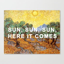 Here Comes the Yellow Sky and Sun Canvas Print