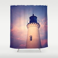 lighthouse Shower Curtains featuring Lighthouse by JMcCool