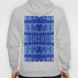 tie dye ancient resist-dyeing techniques Indigo blue textile abstract pattern Hoody