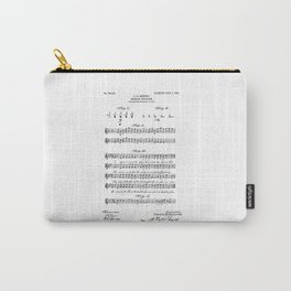 patent art Beswick Musical notation 1903 Carry-All Pouch