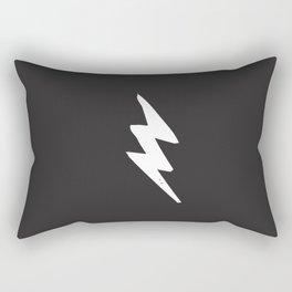 White Lightning Bolt Rectangular Pillow