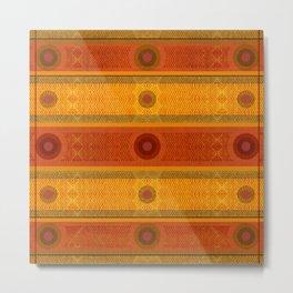 """Ethnic Pattern Warm Tones II"" Metal Print"