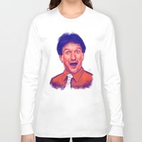 robin williams Long Sleeve T-shirts featuring Young Robin Williams  by Thubakabra