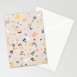 Lively Colorful Terrazzo Pattern Stationery Cards
