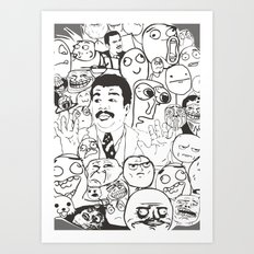 Meme P&B Art Print