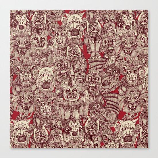 gargoyles red Canvas Print