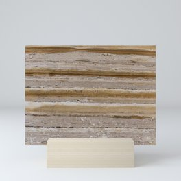 Natural desert sand rocks texture background Marine sedimentary rocks Mini Art Print