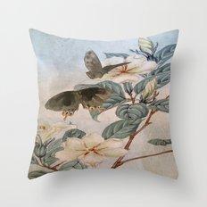 Jasmine And Butterflies Throw Pillow