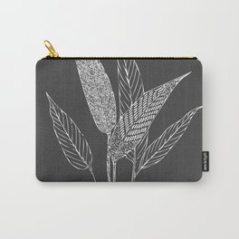 Black and White Botanical Drawing Carry-All Pouch