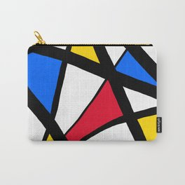 Red, Yellow, Blue Primary Abstract Carry-All Pouch