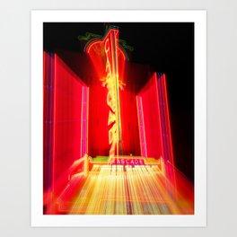 Theater Theatrics Cascade Theatre in Redding California zoom burst Art Print