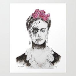 Frida Muerte Art Print