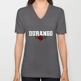 Durango Mexico Bleeding Rose Unisex V-Neck
