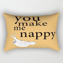 You make me nappy Rectangular Pillow