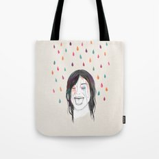 Les filles rient sous la pluie Tote Bag