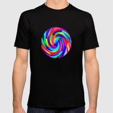 Crazy colours MEDIUM Black Mens Fitted Tee