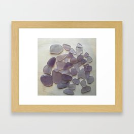 Genuine Purple Sea Glass Collection Framed Art Print