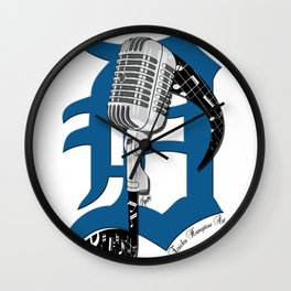 Detroit Music Wall Clock