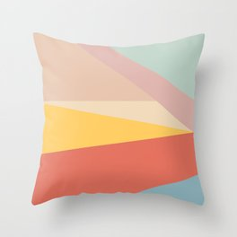 Retro Abstract Geometric Throw Pillow