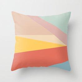 Retro Abstract Geometric Throw Pillow