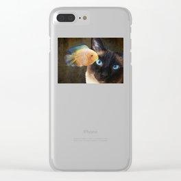 Wishful Thinking 2 - Siamese Cat Art - Sharon Cummings Clear iPhone Case