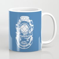 scuba Mugs featuring Scuba diver by Sea And Navy